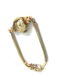 【送料無料】vintage 1950s ladies timex model 367 cal 10k rgp wristwatch w gp bracelet