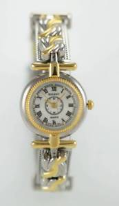 regent womens gold stainless steel water resistant quartz battery watch