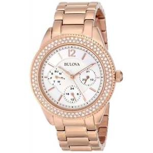 【送料無料】bulova 97n101 womens crystal wristwatch