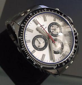 【送料無料】mens genuine rotary les originales chronograph panda specialed swiss sapphire