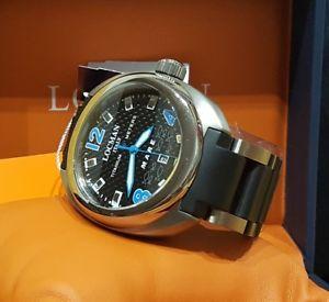 【送料無料】locman orologio uomo mare 44mm titanio garanzia nero blu full set nuovo 430