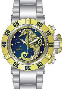 【送料無料】invicta mens subaqua swiss quartz chrono 500m stainless steel watch 26227