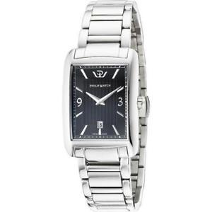 【送料無料】orologio uomo philip watch trafalgar r8253174001 acciaio nero swiss made