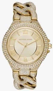 【送料無料】michael kors womens 43mm camille pav crystal galore watch mk3820  49500