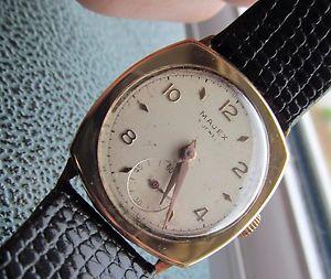 【送料無料】vintage 9 majex mens gold cased watch