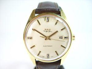 【送料無料】rare montre pax electronic calibre r148 fond signe lip vintage watch