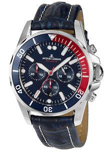 【送料無料】jacques lemans herren chronograph liverpool diver chrono 11907zb