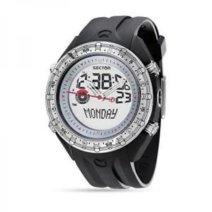 【送料無料】orologio uomo sector marathon timer r3251909015 silicone nero chrono altimetro