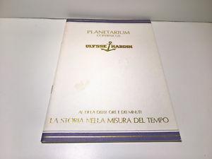 【送料無料】rare vintage ulysse nardin planetarium copernicus instruction bookletmanual
