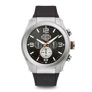 【送料無料】harley davidson 76b176 mens heavy metal wristwatch