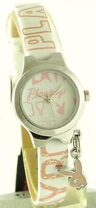 【送料無料】playboy ladies quartz analog watch with charm pb0100
