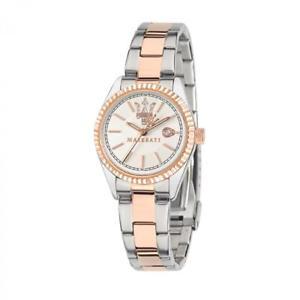 【送料無料】orologio tempo e data donna maserati competizione r8853100504 argento oro rosa