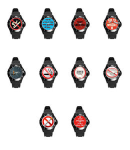 no stop smoking quit tabacco mens womens adult rubber wrist watch