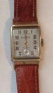 【送料無料】vintage wristwatches bulova  art deco usa 1940´s,