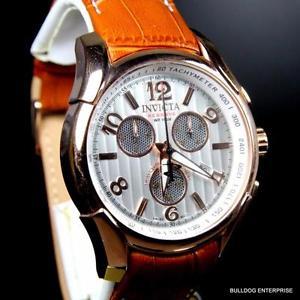 【送料無料】invicta reserve specialty swiss cosc chronometer chronograph brown watch