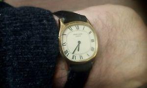 【送料無料】vintage mens favre leuba watch swiss hand wind gold plated roman numerals vgw