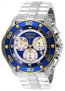 【送料無料】invicta mens reserve swiss quartz chrono 100m stainless steel watch 26569