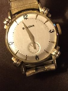【送料無料】bulova 50's knotted lug 10k vintage watch very rare