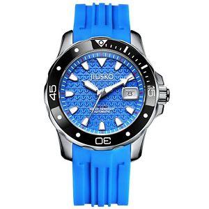 【送料無料】jiusko men 300m deep sea scuba dive watch 24 jewel date sapphire 70lsb1313