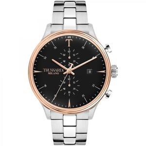 【送料無料】orologio cronografo uomo trussardi tcomplicity r2473630002 argento
