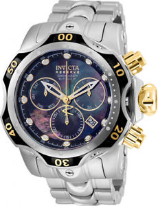 invicta mens reserve chronograph stainless steel mother of pearl watch 25977