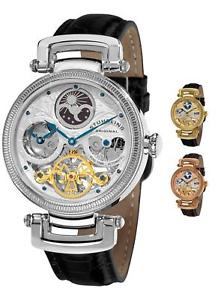 【送料無料】stuhrling original mens 353a magistrate automatic self wind dual time watch