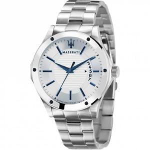 orologio uomo maserati circuito r8853127001 bracciale acciaio bianco sub 100mt