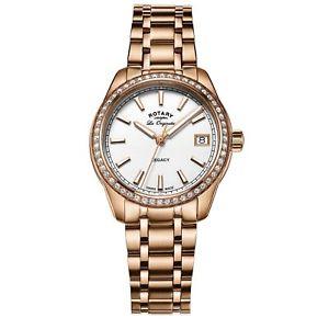 【送料無料】rotary lb9017601 womens rose gold tone legacy wristwatch