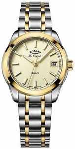【送料無料】rotary womens les originales legacy two tone lb9017403 watch 39