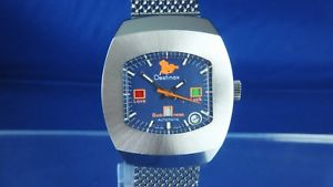 nos vintage destinax astromatic aries automatic watch 1970s swiss bf 158