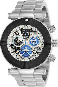 【送料無料】24987 invicta 47mm subaqua noma i ltd quartz chronograph mens ss bracelet watch