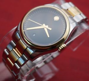 【送料無料】swiss movado sportivo 2tone 18k goldpssteel, mens model 0606483,retail1095