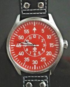 【送料無料】buhr big pilot typ b red 50 mm,limited edition, brand  warranty card