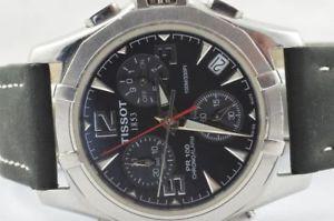 【送料無料】tissot pr100 herren uhr alarm chrono quartz stahl p670770 schner zustand
