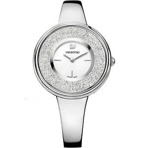 【送料無料】** swarovski crystaline pure watch 5269256 silver tone next day delivery