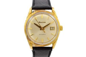 【送料無料】vintage bulova classic automatic midsize gold plated watch 1591