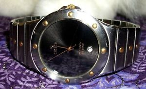 【送料無料】croton equator watch solid 18k yellow gold accents retail 89500 rare