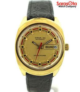 【送料無料】vintage lucien piccard circa 101 daydate swiss automatic dress wrist watch