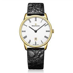 【送料無料】dreyfuss amp; co dgs0013601 mens gold tone wristwatch