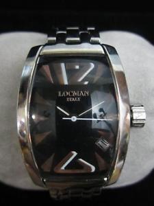 【送料無料】locman panorama italy reference 151 3 atm stainless steel glass crystal watch