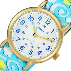 timex tw2p90100 weekender womens analog watch reversible nylon strap