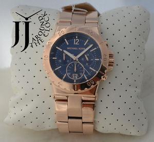 【送料無料】 michael kors dylan rose gold tone crystal baguette chronograph mk5410