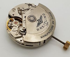 【送料無料】vintage breitling eta 7750 automatic chronograph movements 25 jewels navitimer