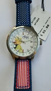 orologio donna avion sport,pin up,ap105w,watch pilot,aviator,miss america,usa