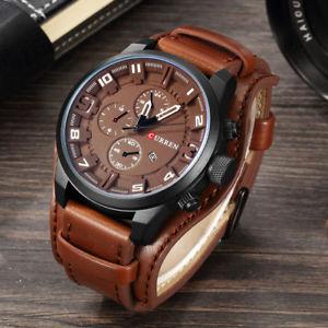 curren watches men watch luxury  analog men military watch reloj hombre whatc