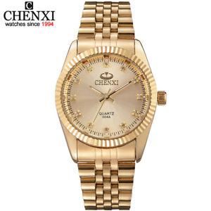 【送料無料】golden fashion watch stainless steel quartz business xmas gifts for him dad men