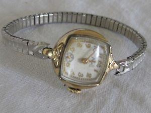 vintage ladies savoy milos 10k gold filled 7 jewel wrist watch  it works