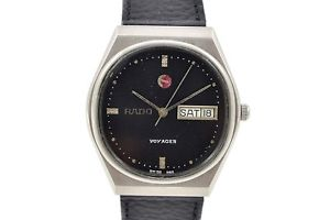 【送料無料】vintage rado voyager stainless steel automatic midsize watch 260