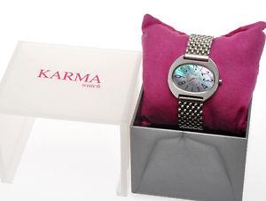 【送料無料】karma, orologio da donna, qdt tipo madreperla bracciale acciaio anallerg d81