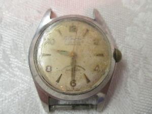 【送料無料】vtg le courier automatic incabloc wrist watch unbreakable mainspring 17 jewels